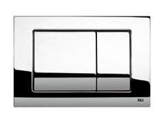 - Glossy steel flush plate METAL DUAL   Glossy steel flush plate - OLI