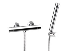 - Single handle thermostatic shower mixer with hand shower MINIMAL THERMO | Thermostatic shower mixer with hand shower - Remer Rubinetterie