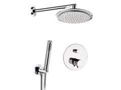 - Chromed brass thermostatic shower mixer with hand shower MINIMAL THERMO | Thermostatic shower mixer with hand shower - Remer Rubinetterie