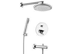 - Thermostatic shower mixer with hand shower MINIMAL THERMO | Thermostatic shower mixer with hand shower - Remer Rubinetterie
