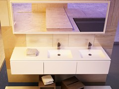 - Double rectangular washbasin with integrated countertop MODULE DESK 50 D - DIMASI BATHROOM by Archiplast