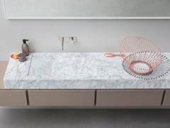 - Countertop rectangular Carrara marble washbasin D TAGLIO | Carrara marble washbasin - Rexa Design