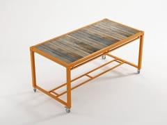 - Rectangular metal table with casters AK- 14 | Rectangular table - KARPENTER