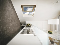 Finestra da tetto a vasistas in legno lamellareSTYLE C - CLAUS