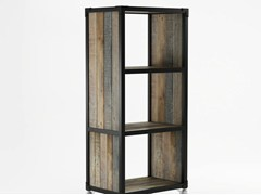 - Freestanding wooden bookcase with casters AK- 14 | Bookcase - KARPENTER