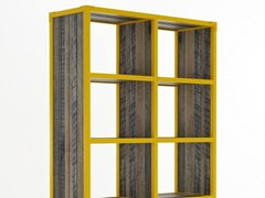 - Freestanding wooden bookcase with casters AK- 14 | Freestanding bookcase - KARPENTER