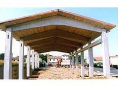 Dachkonstruktion aus Stahlbetonfertigteilen BOOMERANG - ZANON PREFABBRICATI