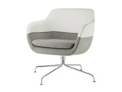 - Trestle-based armchair with armrests CRONA LOUNGE | Trestle-based armchair - Brunner