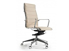 - High-back executive chair with 5-spoke base COMET | High-back executive chair - Castellani.it