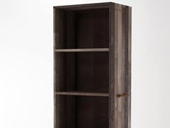 - Freestanding wooden bookcase with drawers ROPE ME | Freestanding bookcase - KARPENTER