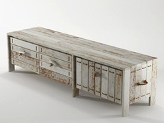- Reclaimed wood TV cabinet / sideboard ROPE ME | Wooden TV cabinet - KARPENTER