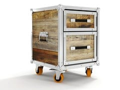 - Wooden chest of drawers with casters ROADIE | Chest of drawers - KARPENTER