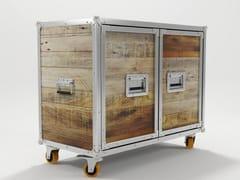 - Wooden highboard with doors ROADIE | Highboard with doors - KARPENTER