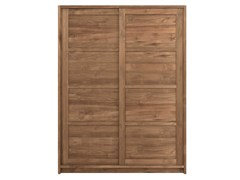 - Teak wardrobe with sliding doors TEAK KNOCKDOWN | Wardrobe with sliding doors - Ethnicraft