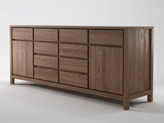 - Wooden sideboard with doors with drawers SOLID | Sideboard - KARPENTER