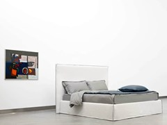 - Double bed with high headboard TAHITI | Bed with high headboard - Orizzonti Italia