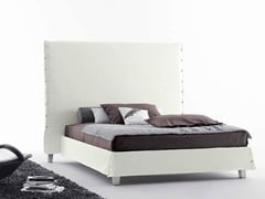 - Double bed with high headboard WHITE | Bed with high headboard - Orizzonti Italia