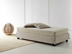 - Single bed with removable cover WHITE SOMMIER - Orizzonti Italia