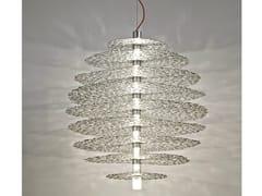 - Halogen silver leaf pendant lamp TRESOR | Silver leaf pendant lamp - TERZANI