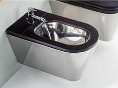 - Wall-hung stainless steel bidet MARY - Rapsel