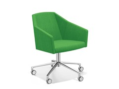- Easy chair with 5-spoke base with casters PARKER VI | Easy chair with casters - Casala