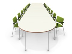 - Lacquered oval meeting table TAVO FIX | Oval meeting table - Casala