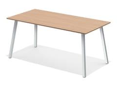 - Rectangular meeting table WISHBONE III | Meeting table - Casala
