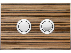 - Flush plate WOOD ZEBRANO POLISHED - Valsir