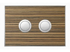 - Flush plate WOOD ZEBRANO SATIN - Valsir