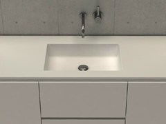 - Inset rectangular washbasin with integrated countertop MODUL DESK 50 - DIMASI BATHROOM by Archiplast