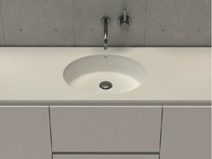 - Inset round washbasin with integrated countertop CIRCLE TOP - DIMASI BATHROOM by Archiplast