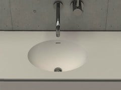 - Inset oval washbasin with integrated countertop ELI TOP - DIMASI BATHROOM by Archiplast