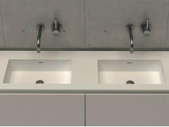 - Inset rectangular washbasin with integrated countertop MODUL DESK 60 D - DIMASI BATHROOM by Archiplast