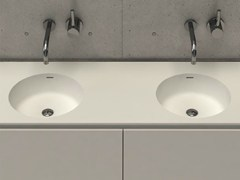 - Inset round washbasin with integrated countertop CIRCLE TOP D - DIMASI BATHROOM by Archiplast