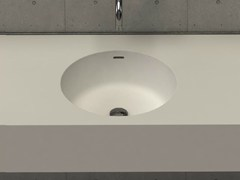 - Round wall-mounted washbasin with integrated countertop CIRCLE DESK - DIMASI BATHROOM by Archiplast