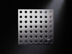 - Brushed steel shower channel GRIGLIA TONDO | Brushed steel shower channel - OLI