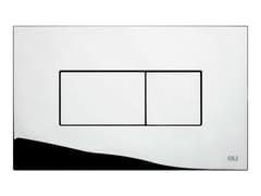 - Glossy steel flush plate KARISMA | Glossy steel flush plate - OLI