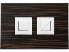 - Flush plate WOOD MAKASSAR EBONY POLISHED - Valsir