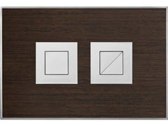 - Flush plate WOOD WENGE SATIN - Valsir