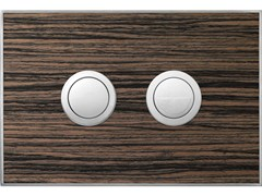 - Flush plate WOOD MALINDI EBONY SATIN - Valsir