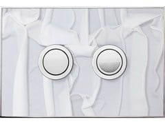 - Flush plate FANTASY WHITE DRAPERY POLISHED - Valsir