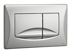 - Brushed steel flush plate RIVER DUAL | Brushed steel flush plate - OLI