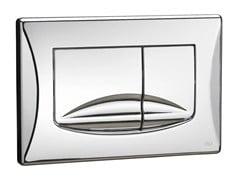 - Glossy steel flush plate RIVER DUAL | Glossy steel flush plate - OLI