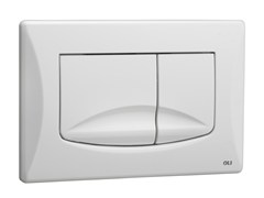- ABS flush plate RIVER DUAL WHITE - OLI