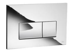 - Glossy steel flush plate STREAM | Glossy steel flush plate - OLI