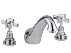 - 3 hole chrome-plated washbasin tap KENSINGTON | Washbasin tap with individual rosettes - Giulini G. Rubinetteria