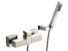 - Wall-mounted single handle bathtub mixer with hand shower SKYLINE DEKORA | Bathtub mixer with hand shower - Daniel Rubinetterie
