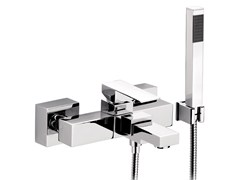 - Wall-mounted bathtub mixer with hand shower SKYLINE | Bathtub mixer with hand shower - Daniel Rubinetterie