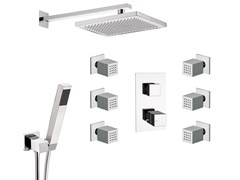 - Thermostatic shower mixer with overhead shower SKYLINE | Thermostatic shower mixer - Daniel Rubinetterie