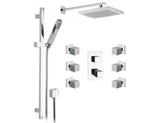 - Chromed brass shower wallbar with mixer tap SKYLINE | Shower wallbar with mixer tap - Daniel Rubinetterie